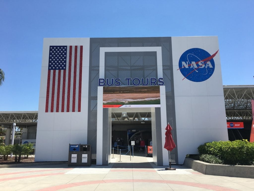 Bus Tours Entrance at Kennedy Space Center
