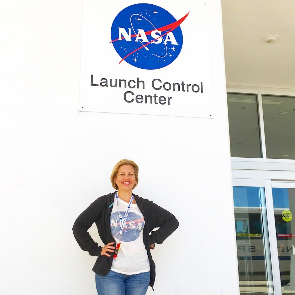 Kim at Launch Control Center with NASA Social