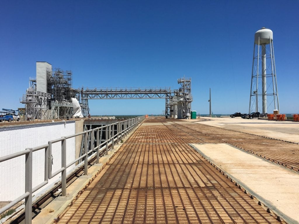 Launch Pad 39B Crawler Way at NASA