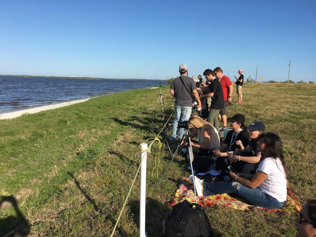 NASA Social Participants Waiting For Rocket Launch