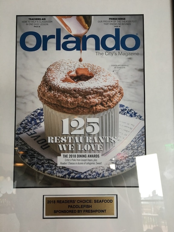 Magazine Best Seafood restaurant in Orlando