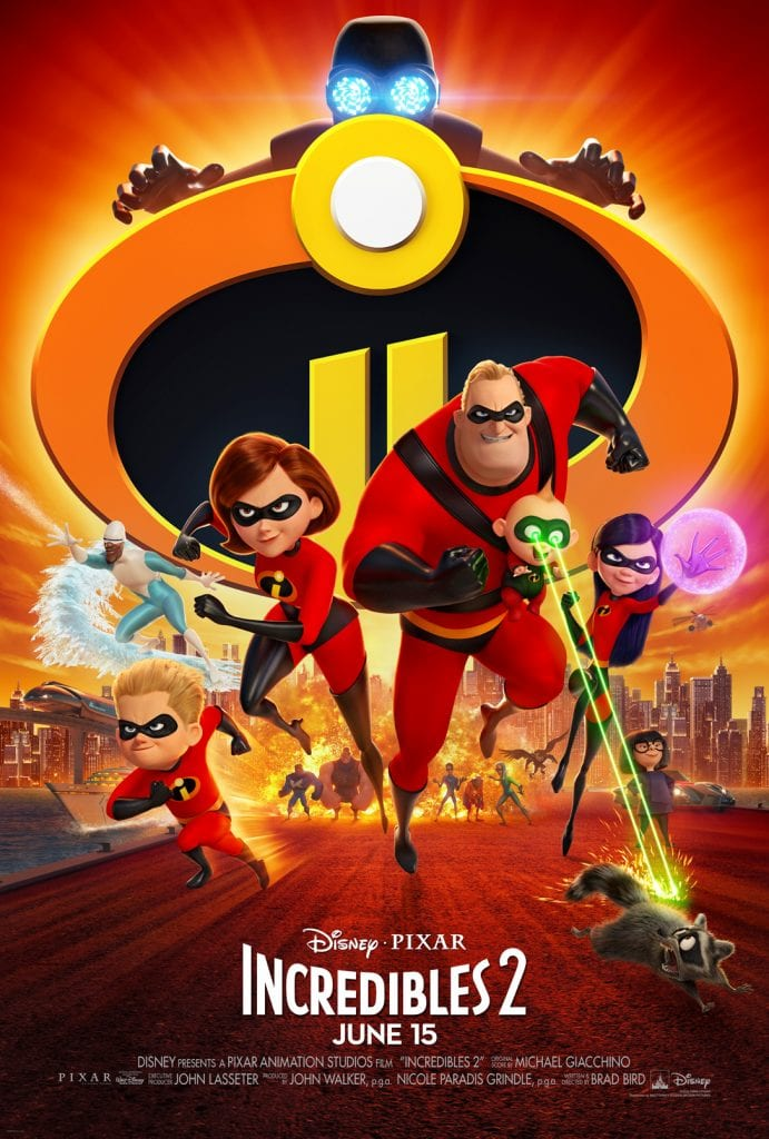 Incredibles family from the Disney movie