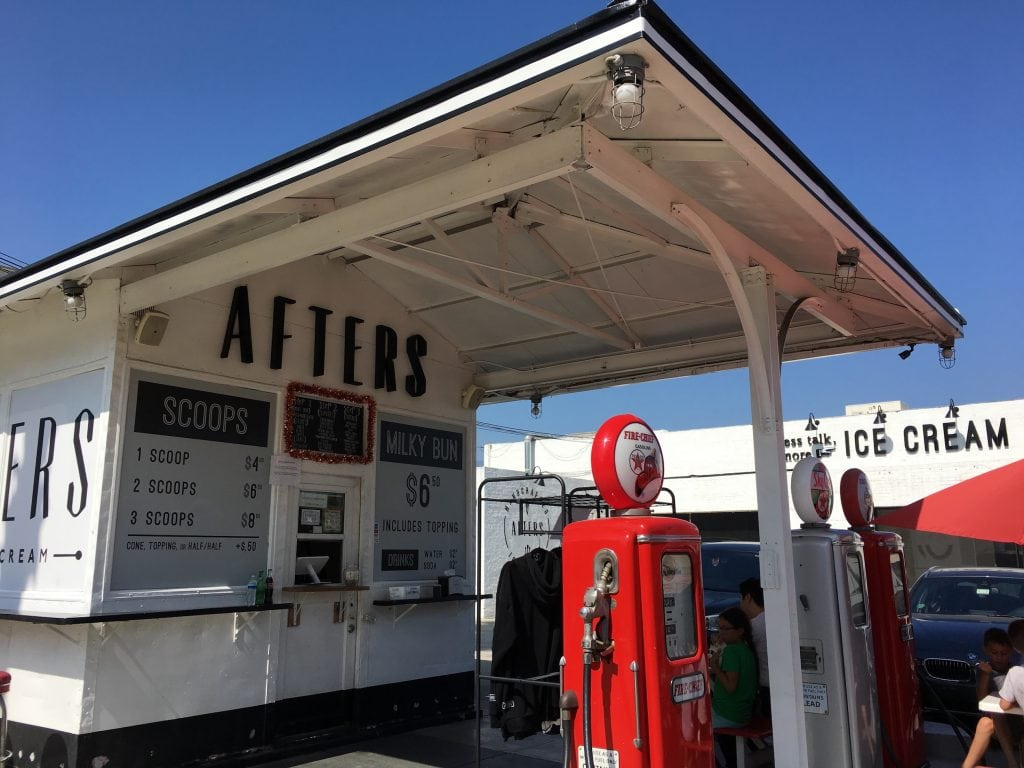 Afters Ice Cream Pasadena California Gas Station