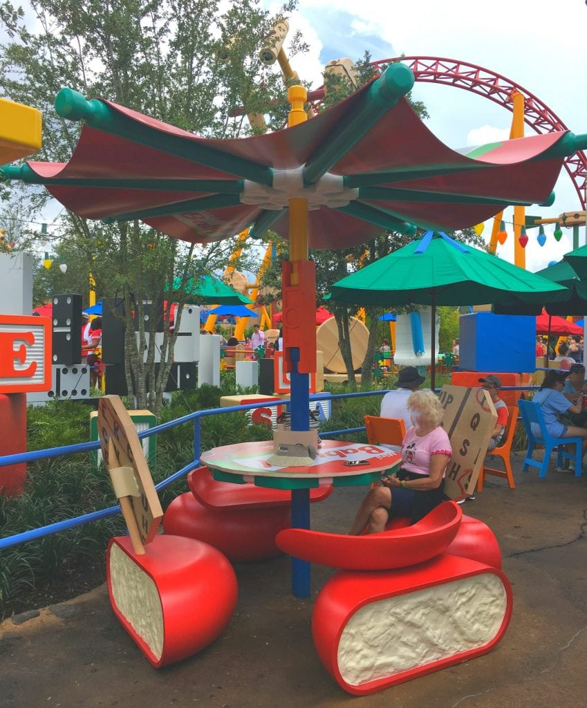 Babybel cheese seats in Toy Story Land Walt Disney World Orlando