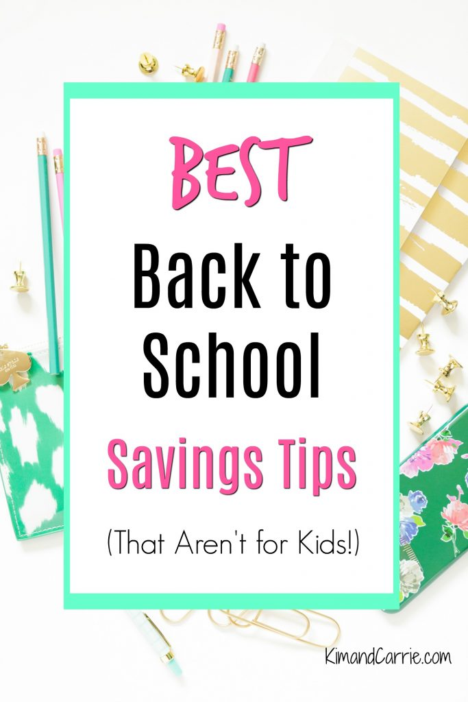 Back to School Savings Tips Pinterest