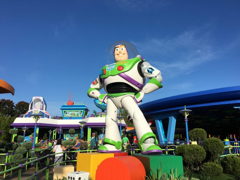 buzz lightyear toy against blue sky Disney World