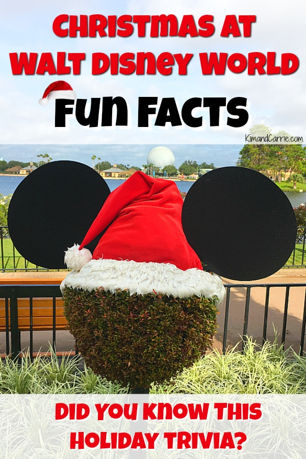 Mickey Mouse head Topiary wearing a Santas Hat at Epcot