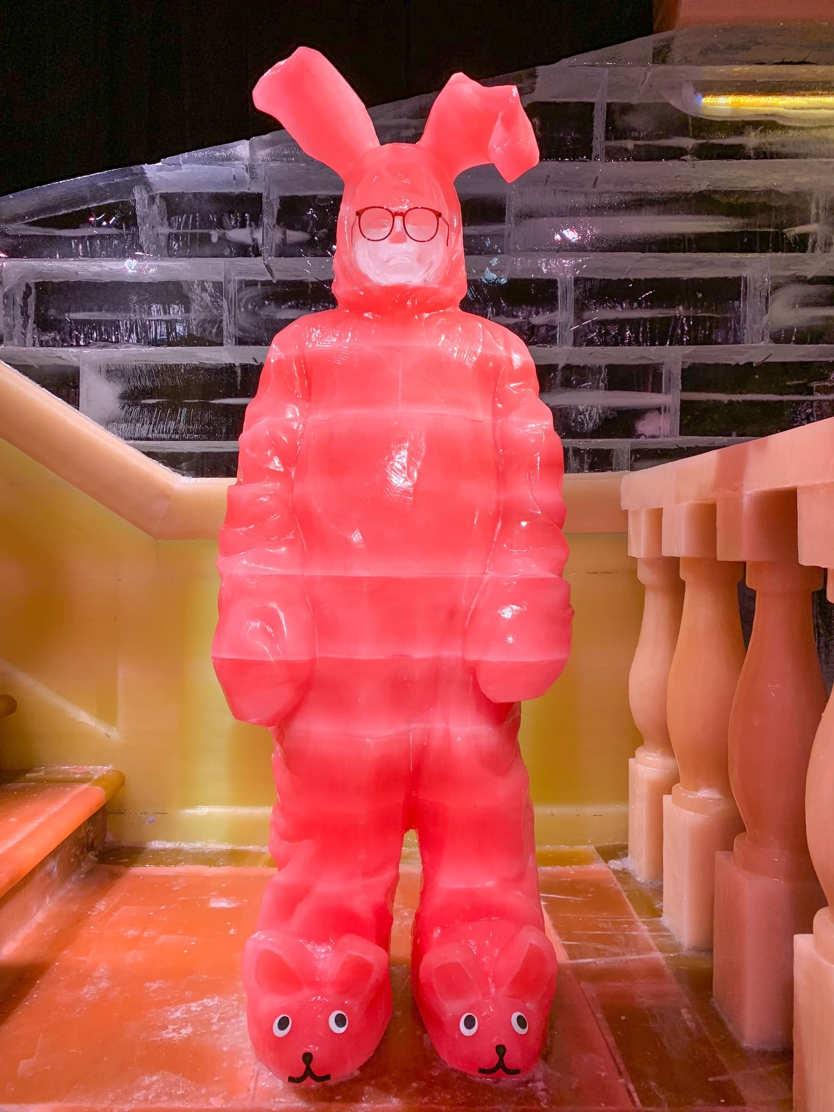 Gaylord Palms ICE 2018 A Christmas Story Orlando Pink Rabbit Pajamas