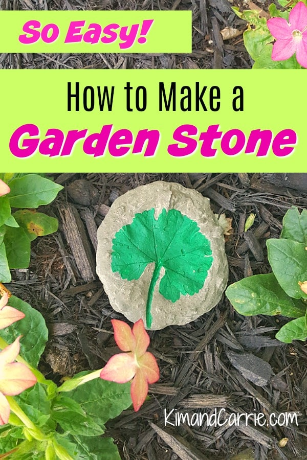 How to Make a Garden Stone with Leaf Imprint