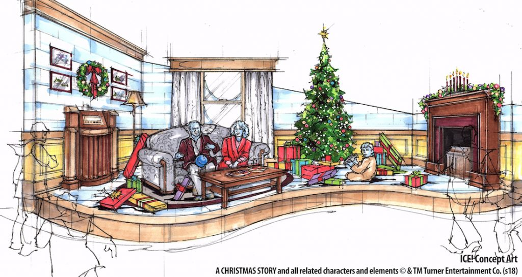 ICE A Christmas Story 2018 at Gaylord Palms rendering