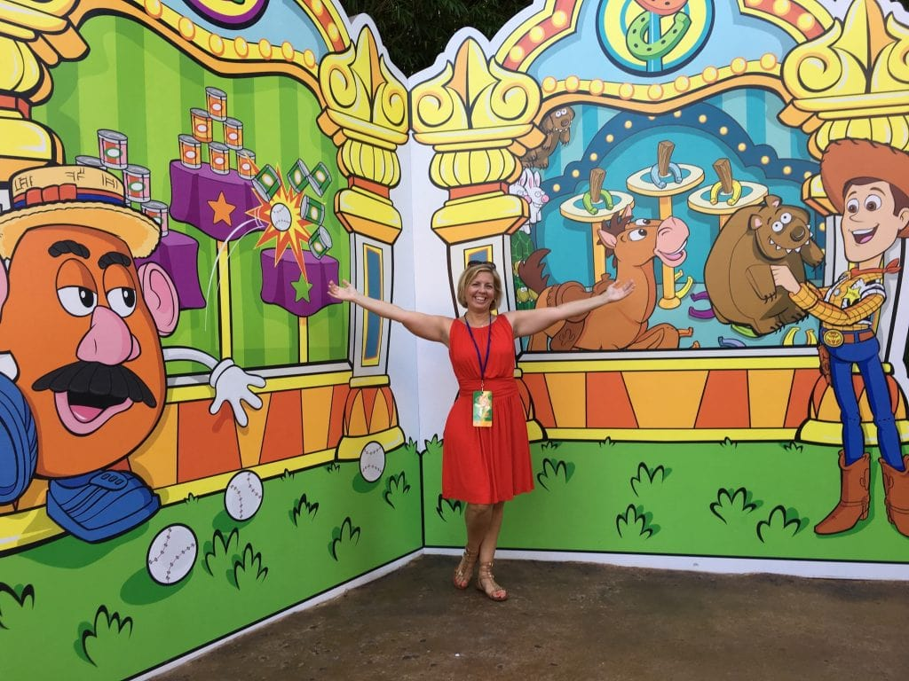 Toy Story Land wall