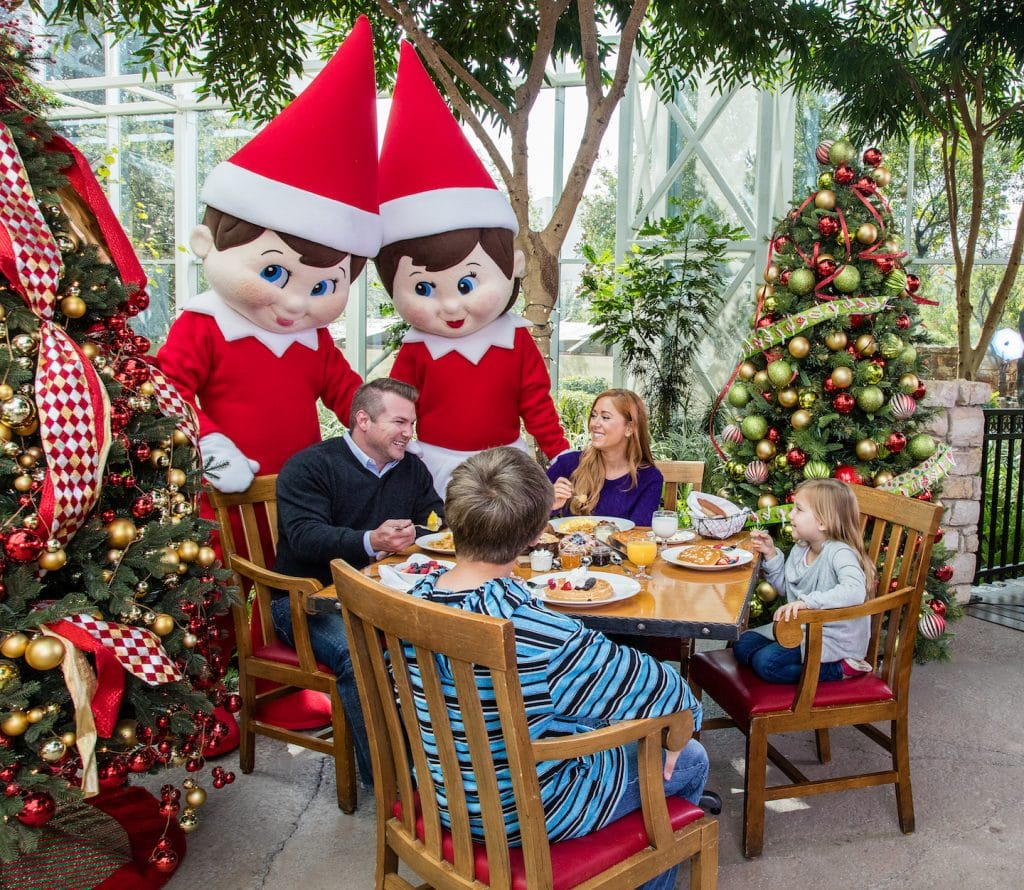 elf on the shelf characters at breakfast at gaylord palms in Orlando