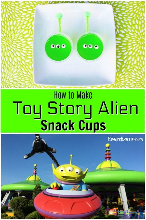 Toy Story Alien Gelatin Cups Tutorial Instructions
