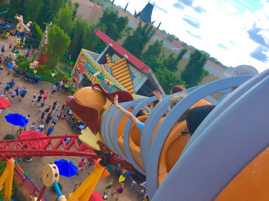 Slinky Dog Dash Roller Coaster overlooking Toy Story Land