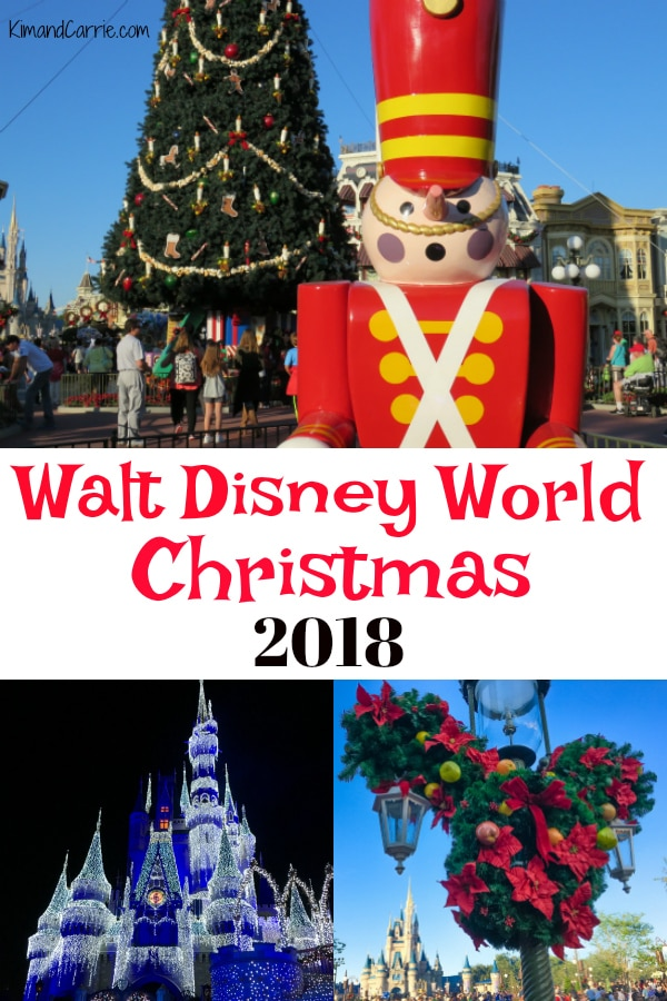christmas at disney world toy soldier mickey mouse topiary castle lit up with lights - When Does Disney Decorate For Christmas 2018