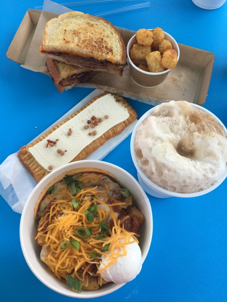 brisket sandwich rootbeer float pop tart totchos Toy Story Land