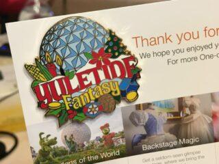 yuletide fantasy tour pin from adventures by disney at Walt Disney world