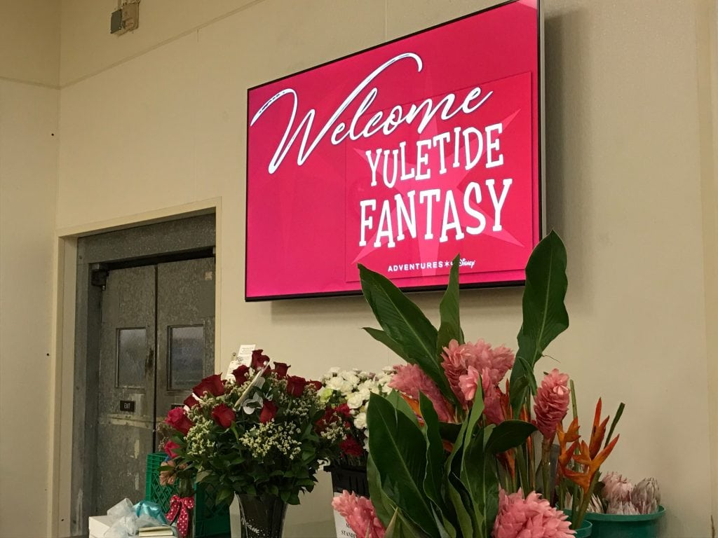 Yuletide Fantasy Tour sign Disney Floral Department