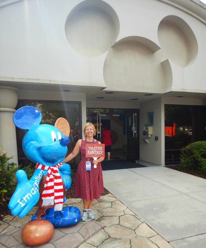 Yuletide Fantasy Tour with Mickey Mouse Statue at Disney Event Group