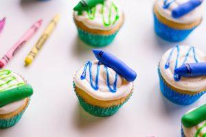 Edible Crayon Cupcake Toppers