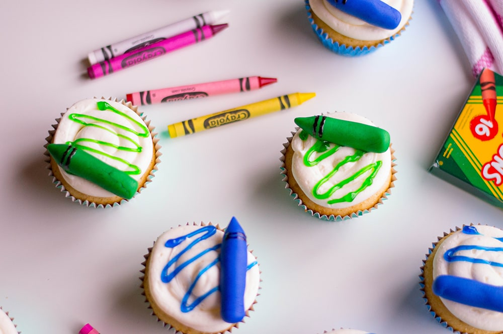 Edible Crayons Cupcake Toppers