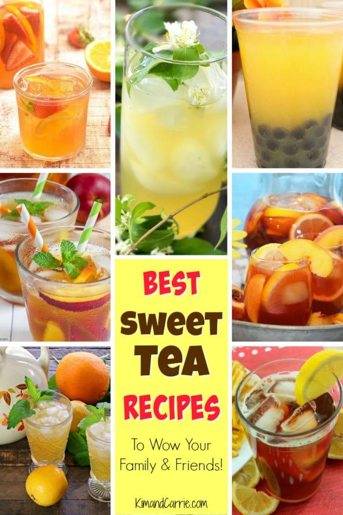 sweet tea in glasses