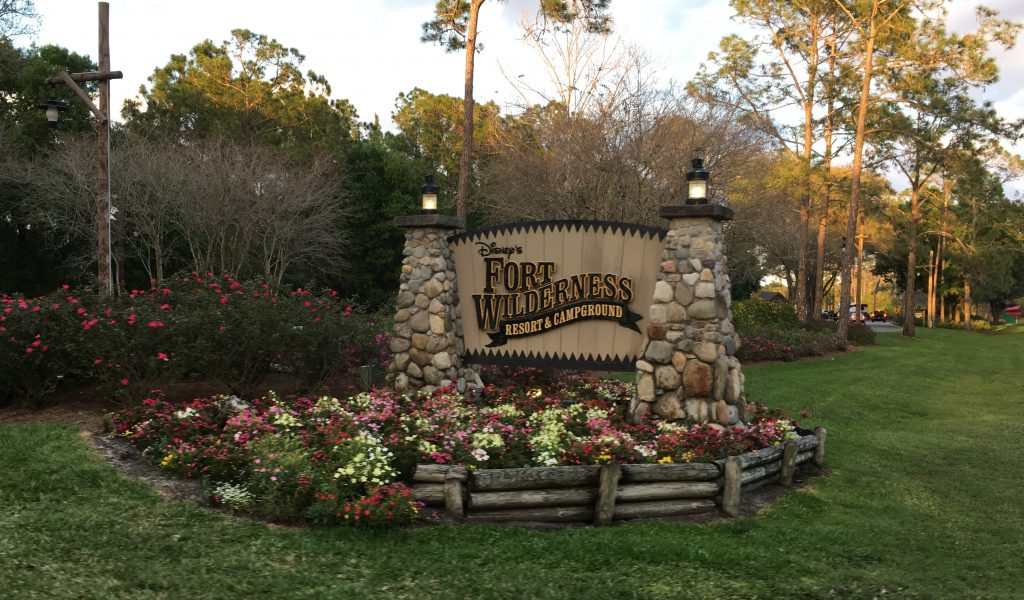 Fort Wilderness Campground Sign