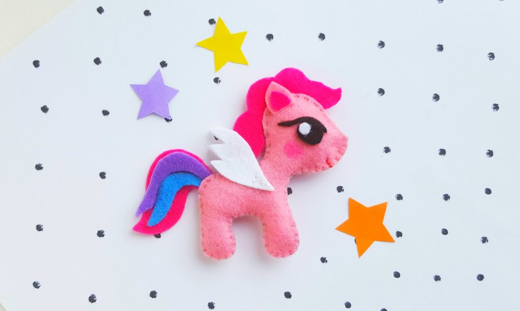 Pink Felt Plush My Little Pony