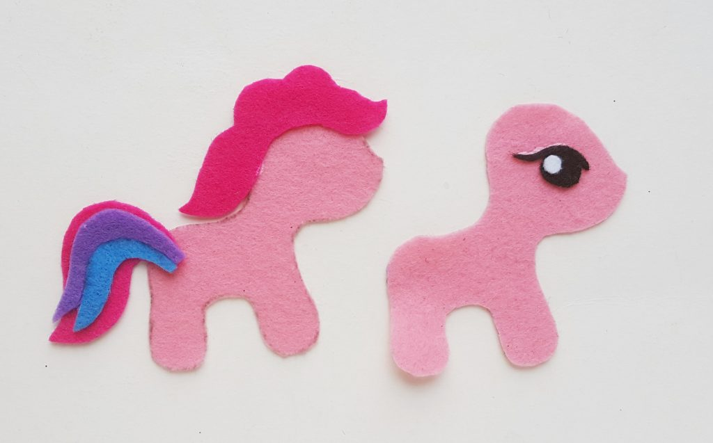 DIY My Little Pony Felt Craft with tail