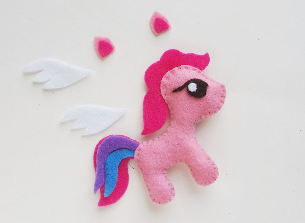 wings and ears forDIY My Little Pony Felt Craft