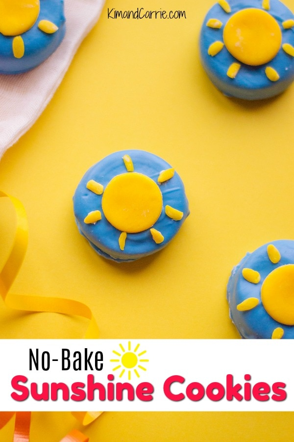 blue cookies with yellow candy sunshine recipe