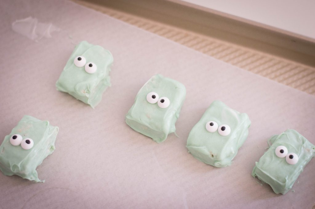 square green heads with candy eyes