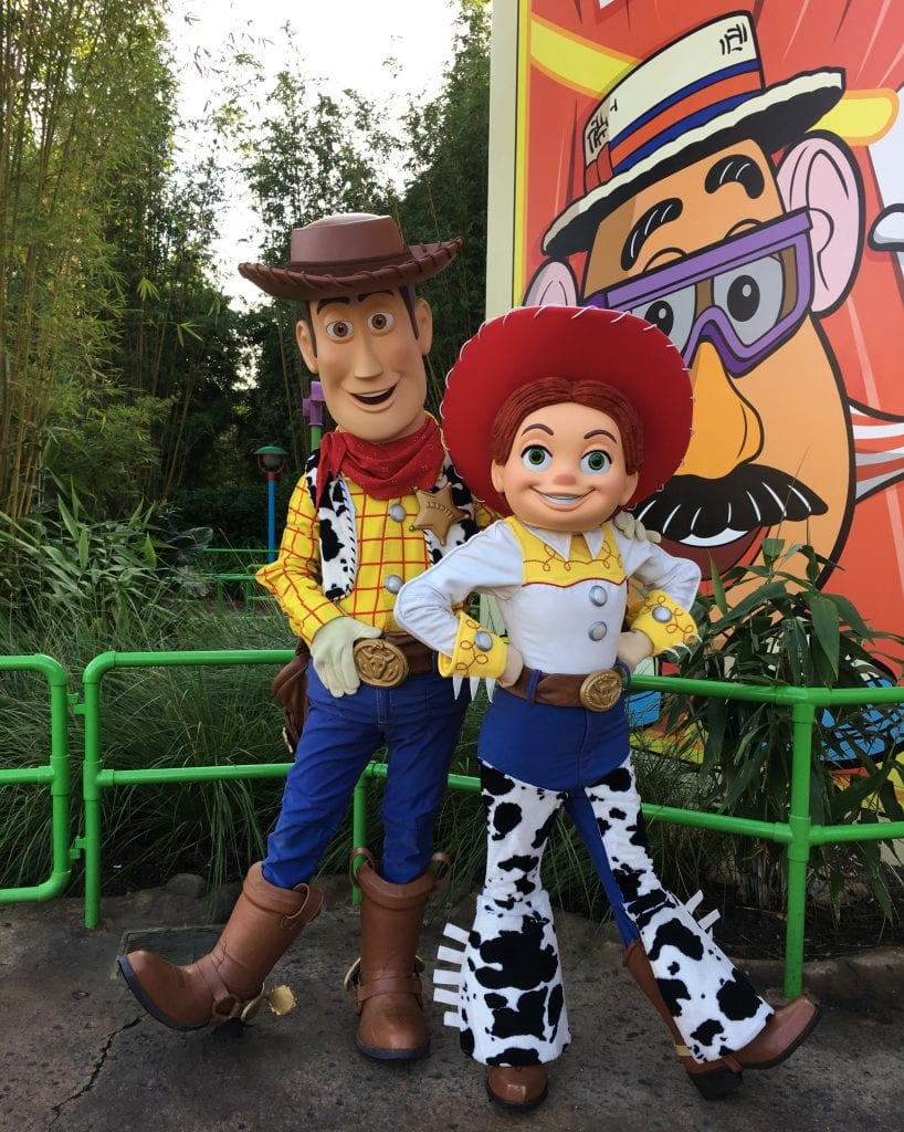 Woody and Jesse in Toy Story Land