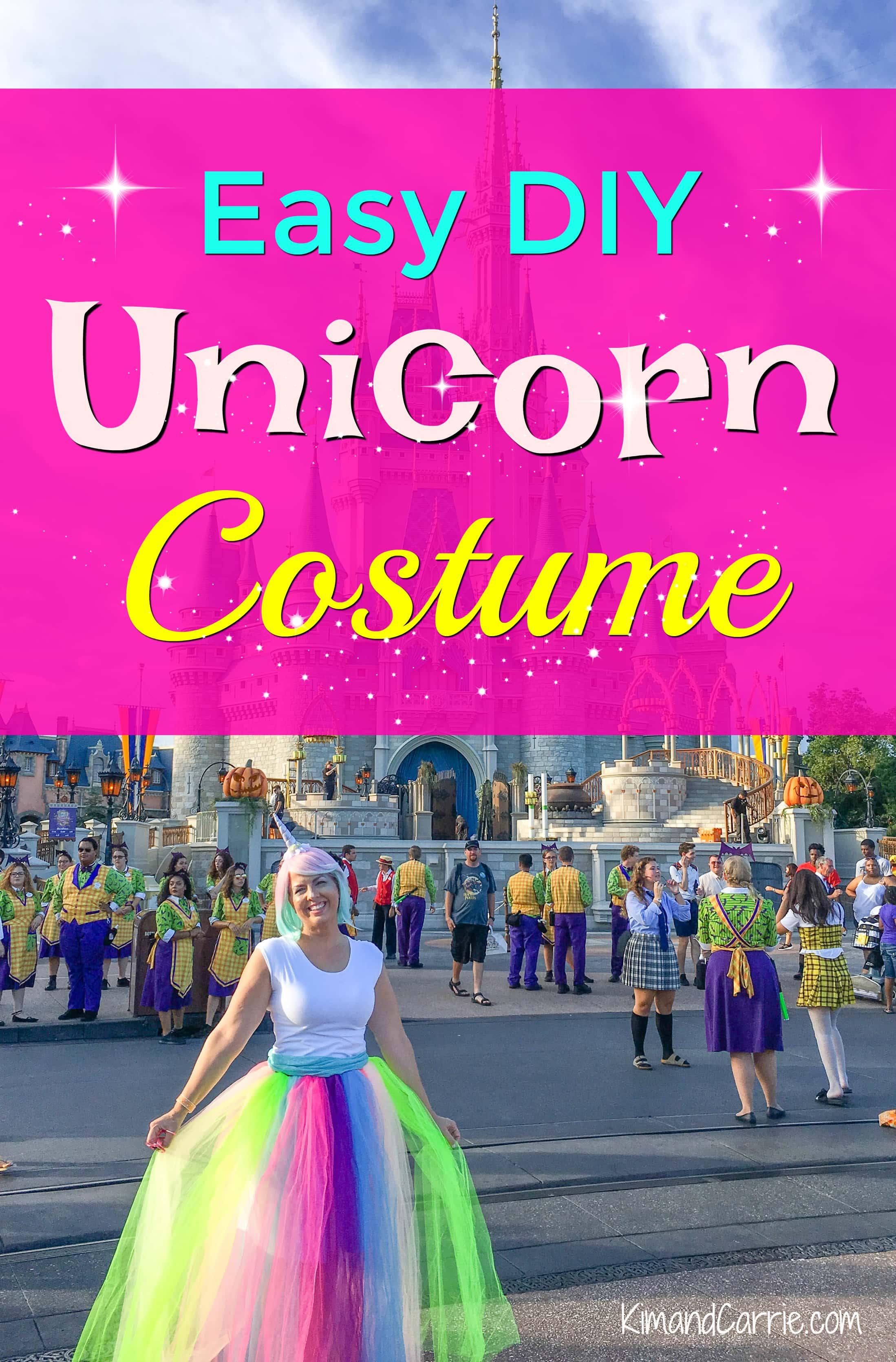 wearing unicorn costume in front of Cinderella Caste at magic Kingdom Disney 086139e88e