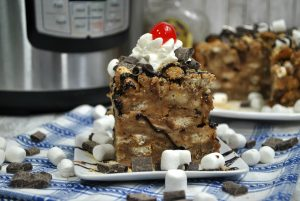 Instant Pot Smores Bread Pudding with Crown Royal Sauce Recipe