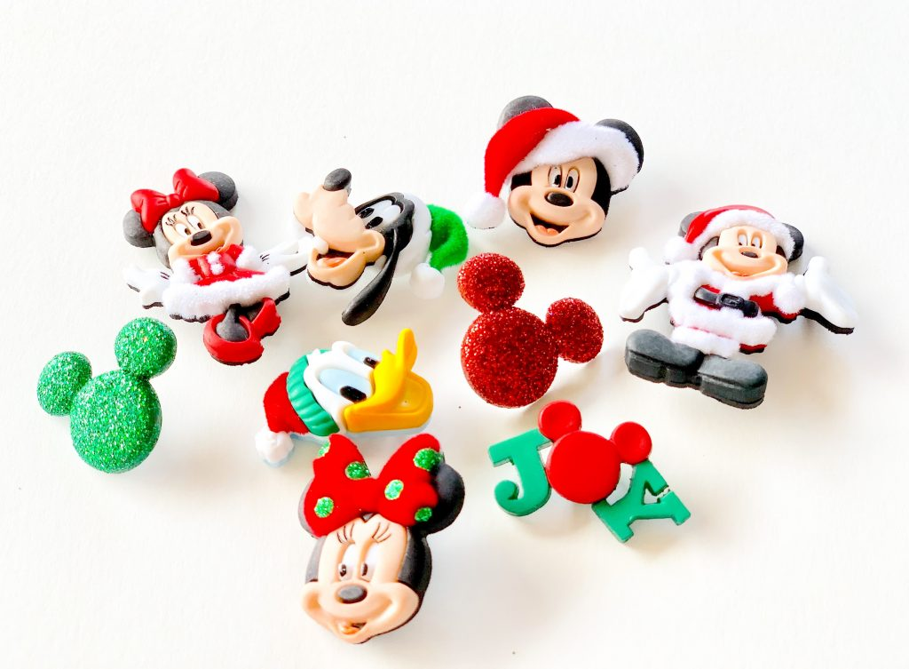 Mickey Mouse, Minnie Mouse, Donald Duck, goofy, mickey head Christmas buttons