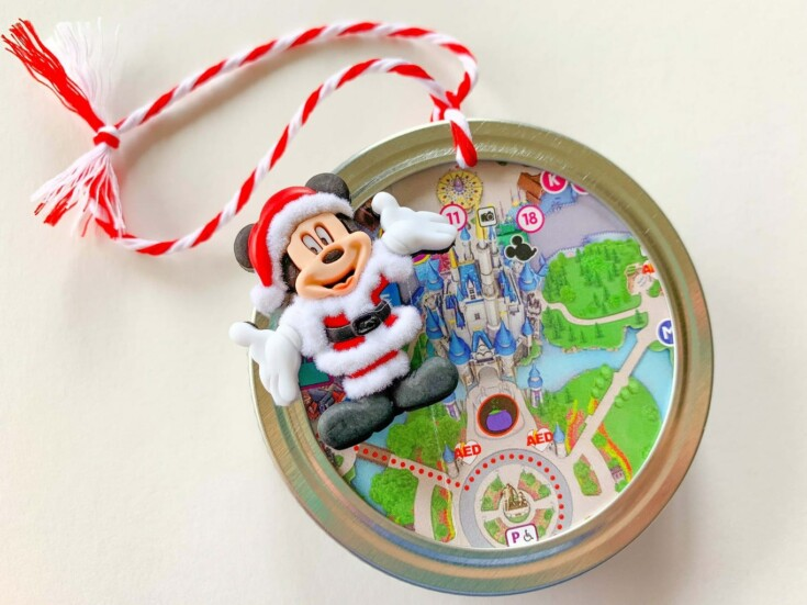 Disney Park Map Christmas Ornament