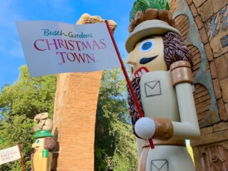 Nutcrackers Christmas Town sign Busch Gardens Tampa Bay