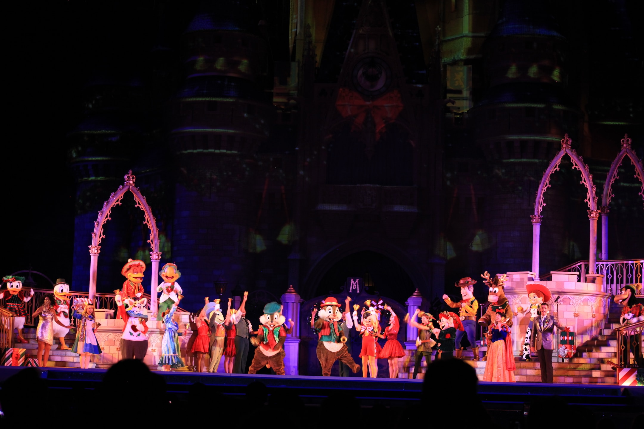 Castle Stage Show Mickey's Very Merry Christmas Party Magic Kingdom