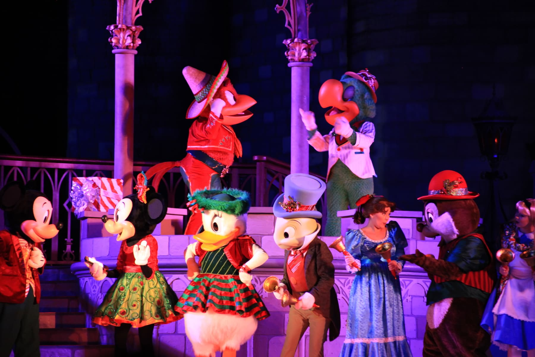 Disney Characters Three Caballeros Jiminy Cricket Mickey's Very Merry Christmas Party Magic Kingdom