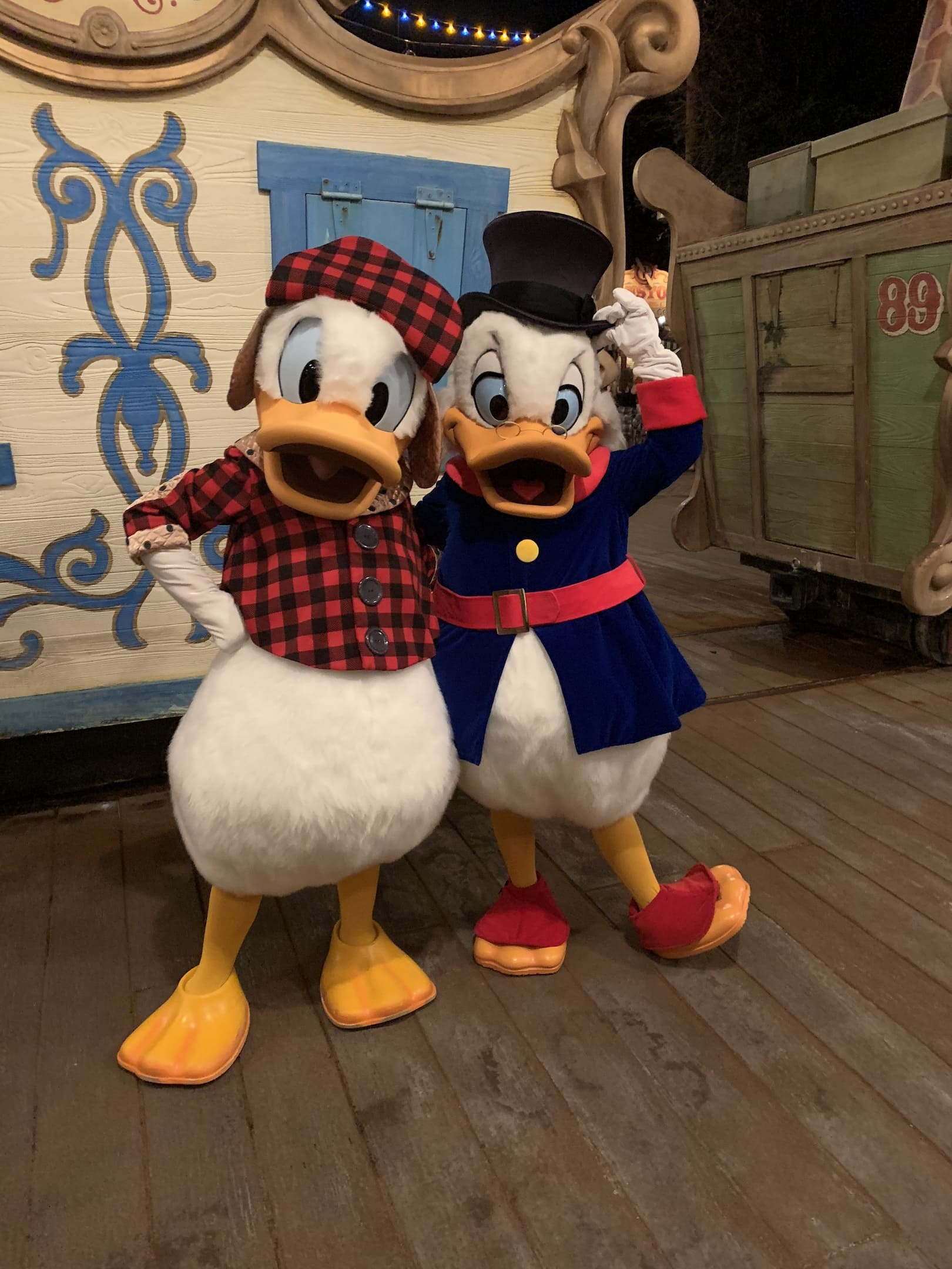 Donald and Scrooge McDuck Mickey's Very Merry Christmas Party Magic Kingdom