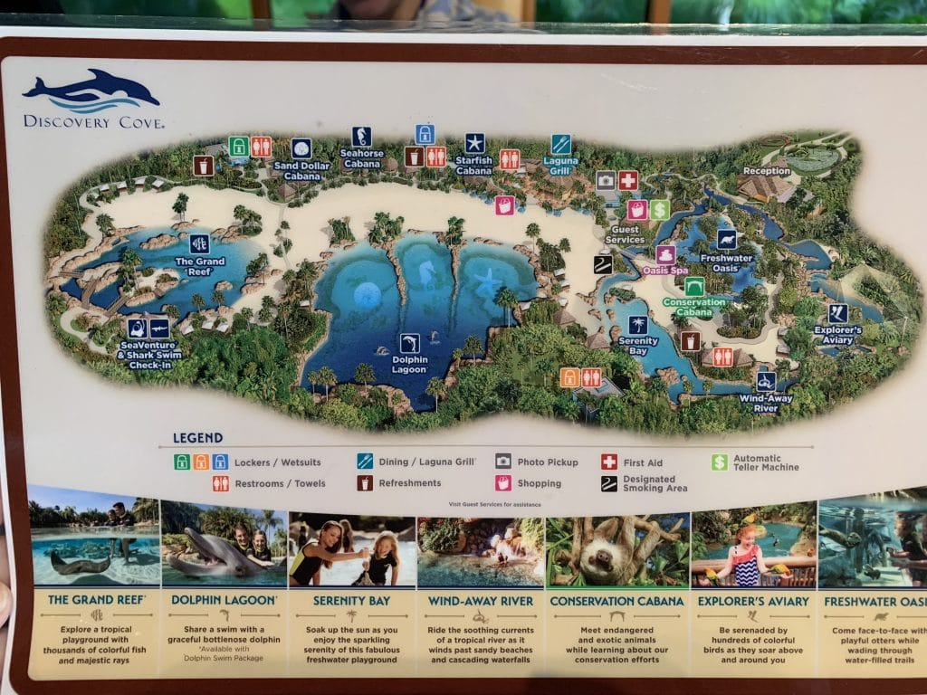 Map of Discovery Cove Orlando Florida