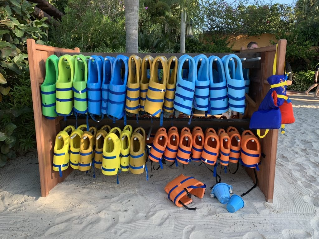 colorful life jackets Discovery Cove Orlando