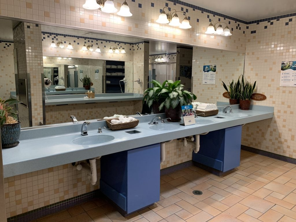 sinks in Discovery Cove bathroom