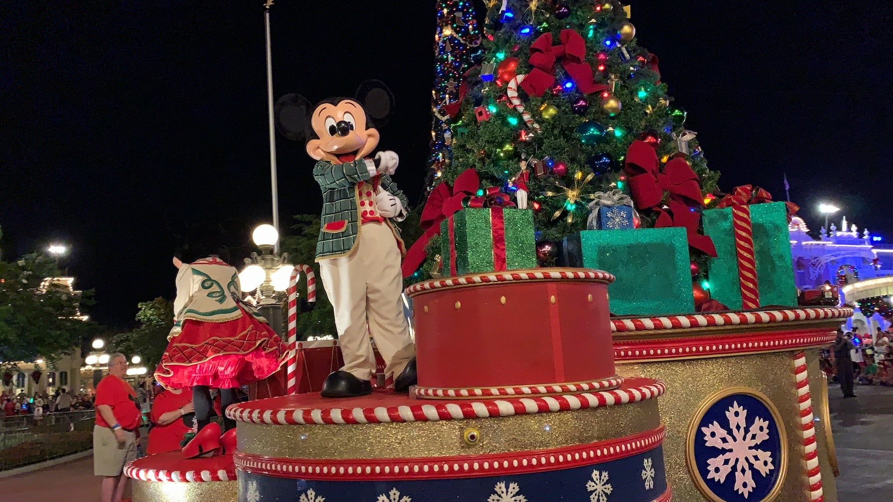 Mickey Mouse in Very Merry Christmas Parade Magic Kingdom