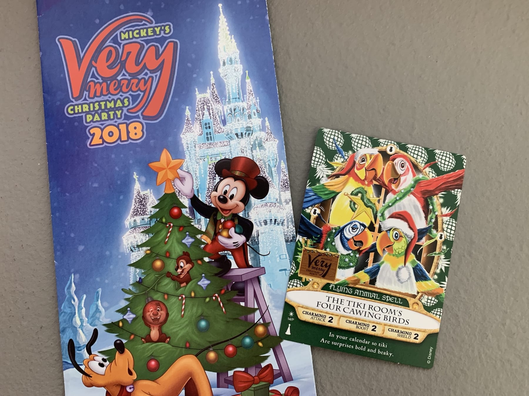 Mickey's Very Merry Christmas Party Sorcers Card