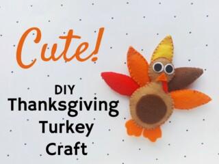 felt turkey craft for Thanksgiving