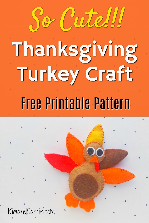 felt plush Thanksgiving Turkey craft for kids and adults