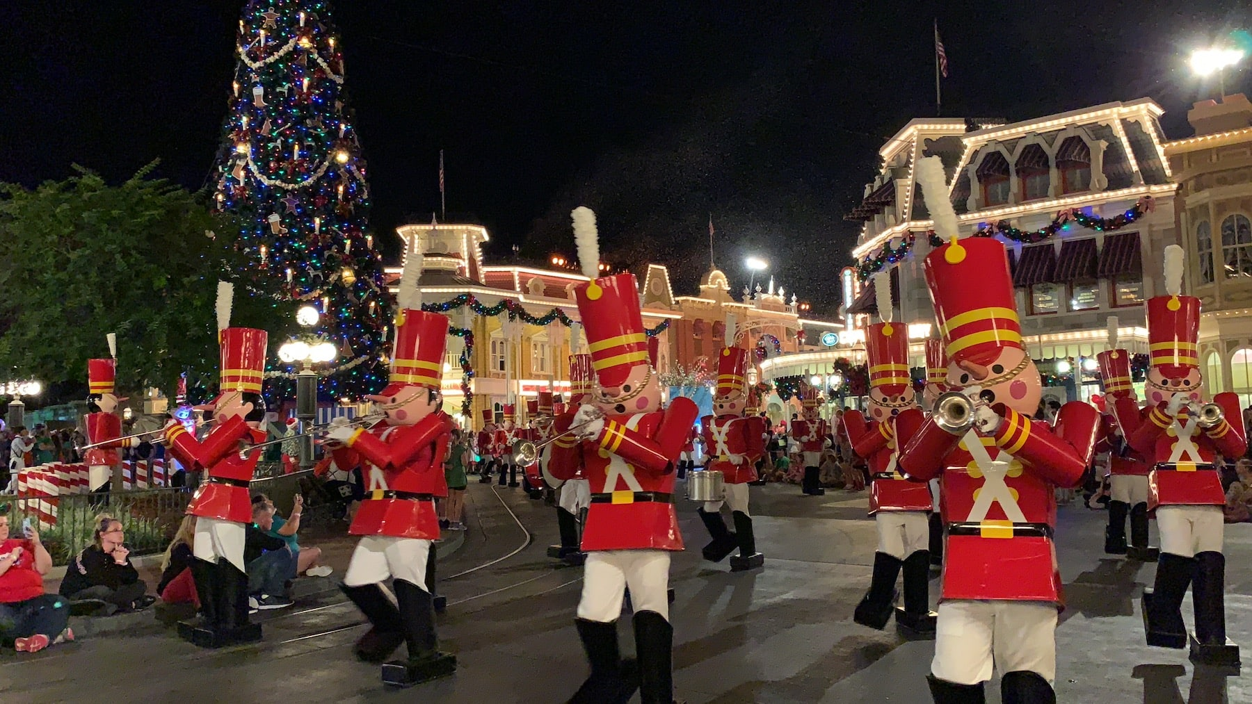 Tin soldiers marching in Magic Kingdom Parade Mickey's Very Merry Christmas Party Magic Kingdom