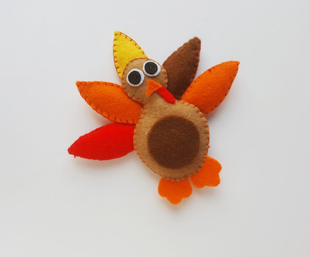 thanksgiving turkey craft felt toy